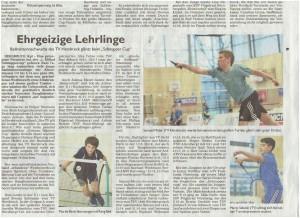 Mfr_Schnupper Cup_Zeitungsbericht